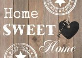 Diamond Painting - Home Sweet Home 30x20 Blank Hout - FULL - SEOS Shop ®