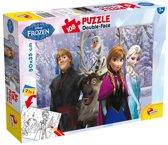 Disney Frozen dubbelzijdige puzzel met 108 stukjes