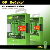 GP oplaadbare batterijen - AA penlite batterijen - 2600 mAh - voordeelverpakking - 12 stuks