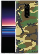 Sony Xperia 1 Hoesje Army Camouflage Green