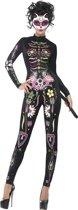 Gekleurd skeletten Halloween kostuum voor dames  - Verkleedkleding - Large