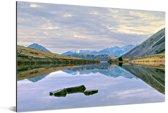 Vergezicht over het Nationaal park Arthur's Pass op South-Island Aluminium 90x60 cm - Foto print op Aluminium (metaal wanddecoratie)
