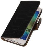 Zwart Croco HTC Desire 510 Book/Wallet Case/Cover
