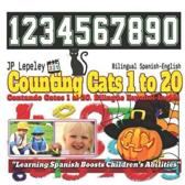 Counting Cats 1 to 20. Bilingual Spanish-English