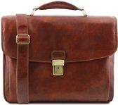 Tuscany Leather Alessandria laptoptas Bruin TL141448