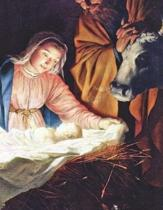 Birth of Jesus Notebook Large Size 8.5 X 11 Ruled 150 Pages