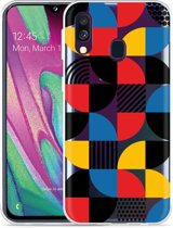 Galaxy A40 Hoesje Abstract Pattern