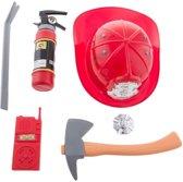 Brandweer verkleed set voor kinderen 6-delig