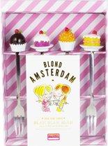 Blond Amsterdam Even Bijkletsen - Gebaksvorkjes - 4 Stuks