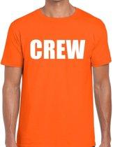 Crew tekst t-shirt oranje heren S