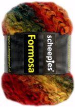 SCHEEPJES FORMOSA - 004 Groen, Geel, Oranje. PAK MET 5 BOLLEN a 100 GRAM. KL.NUM. 1327.