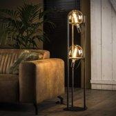 Vloerlamp Mira oud zilver 2-lichts