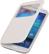 Polar View Map Case Wit Samsung Galaxy S5 TPU Bookcover Hoesje