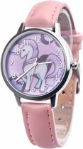 Fako Bijoux® - Kinderhorloge - Eenhoorn - Unicorn - Roze