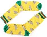 Grappige Sokken Taco - Socks Vrolijke, Grappige Sokken - Happy