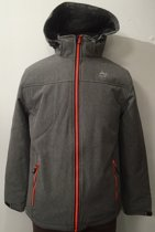 Nordberg heren winterjas Marvin grijs softshell - maat 4XL