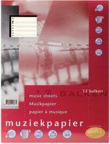 11x Multo muziekpapier voor A4, 23-gaatsperforatie