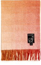 Oranje plaid alpacawol pompoen oranje Elvang ruiten