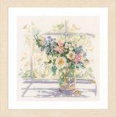 borduurpakket PN0168743 bloemen in zonlicht