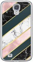 Samsung Galaxy S4 siliconen hoesje - Marble stripes