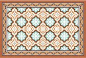 Placemats - Anti-slip - 30 x 45 cm - 4 Stuks - FARO ORANGE