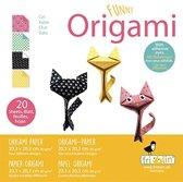 Fridolin Origami Katjes Vouwen 20 X 20 Cm 20 Stuks Multicolor