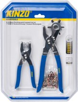 Kinzo Revolvertang (gaatjestang) 2 tangen - 100 popnagels.