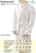 Homéé - Badjas shawlkraag badstof 400g. p/m2   Wit - L (VALT GROOT UIT)