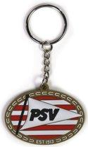 Psv Sleutelhanger Logo Rubber Rood/wit/goud 5,5 X 4 Cm