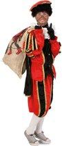 Luxe Zwarte Piet pak rood - maat M-L + GRATIS PROFESSIONELE SCHMINK - kostuum voor buiten - pietenpak zwart goud Sinterklaas