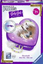 Ravensburger Hartendoosje paarden - Girly Girl 3D puzzel - 54 stukjes