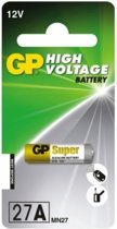 1 stuks GP 27A HIGH VOLTAGE Batterijen  12V- 27 mAh, in blisterverpakking