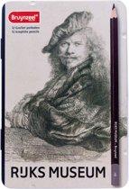 Bruynzeel De Hollandse Meesters | Zelfportret van Rembrandt (12 grafietpotloden)