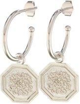 Lora di Lora Oorbellen 22 Renaissance. Unieke oorbellen met bedeltjes 925 Sterling Zilver 1.5 cm