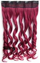 Clip in hair extensions 1 baan wavy Burg