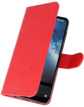 Wicked Narwal | bookstyle / book case/ wallet case Wallet Cases Hoes voor Nokia 2.2 Rood