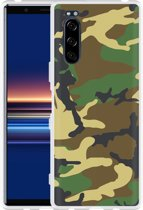 Sony Xperia 5 Hoesje Army Camouflage Green