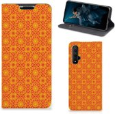 Honor 20 Hoesje met Magneet Batik Orange