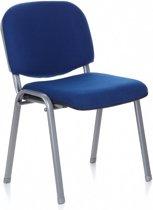 hjh office XT 600 - Bureaustoel - Conferentiestoel - Bezoekersstoel - Blauw / zilver