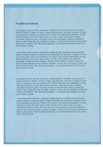 Insteekmappen - L-map A4 - 10 stuks - Blauw