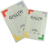 27x Gallery tekenblok, houtvrij papier, 120 g/m², 21x29,7cm (A4), blok van 24 vel