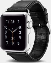 Zwarte Leren Apple Watch 42/44 mm Bandje voor Apple Watch