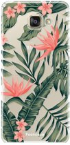 Samsung Galaxy A3 2017 - TPU Soft Case - Back Cover telefoonhoesje - Tropical Leaves