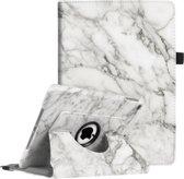 iPad 10.2 (2019) Hoes - 360 Graden Draaibaar Book Case Cover Leer - iCall - Marmer