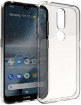 Shop4 - Nokia 3.2 Hoesje - Zachte Back Case Transparant