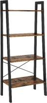 MIRA - Ladderkast| Boekenkast | Houtlook | Vintage | Industrieel| Ladderstelling | Woonkamer | Keuken | Badkamer | Nieuw