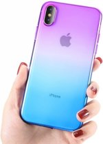 Telefoonhoesje Apple iPhone 8 en iPhone 7 – Paars/Blauw – Iphone 8 Case – Back Cover