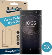 Just in Case Screen Protector Sony Xperia XA2  - Crystal Clear - 3 stuks