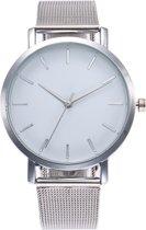 Vintage Mesh Horloge - Staal - Zilver