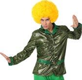"""Glanzende groene discovest voor mannen - Verkleedkleding - XL"""